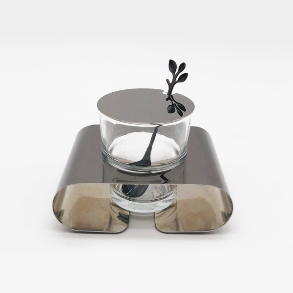 Sugar set stainless steel with spoon