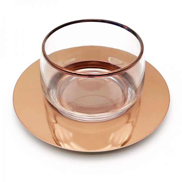 Flat meghle set rose gold, copper
